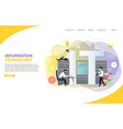 information technology landing page website vector image vector image