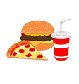 isolated dinner fast food icon vector image vector image
