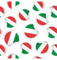 italy flag sticker seamless pattern background vector image