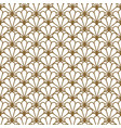 japan inspired seamless pattern in gold vector image vector image