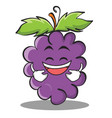 laughing grape character cartoon collection vector image vector image