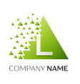 letter l logo symbol in colorful triangle vector image vector image