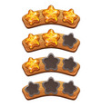 level complete ranking banners with crystal stars vector image vector image