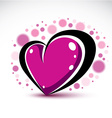 Love and romance symbolic object Dimensional vector image