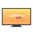 mass media evening news banner live tv show vector image vector image