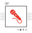 microphone symbol icon vector image