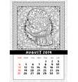 mitten with scenery doodle pattern calendar vector image vector image