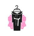 modern dress logo for women vector image
