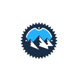 mountain bike logo icon design vector image vector image