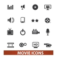 movie and cinema icons set vector image