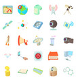 novation icons set cartoon style vector image vector image