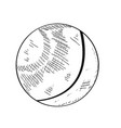 ping pong ball vector image