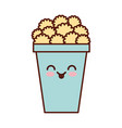 pop corn kawaii character vector image