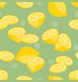seamless pattern lemon slice vector image