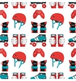 seamless pattern with roller derby vector image vector image