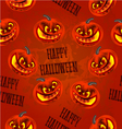 Seamless texture Happy Halloween with pumpkins vector image vector image