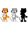 set of tiger character vector image vector image