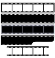 Simple film strips set vector image