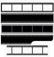 Simple film strips set vector image vector image