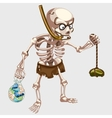 Skeleton is hunting with the catch vector image