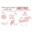 Smell like Christmas recipe vector image