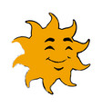 smile sun cartoon mascot character vector image