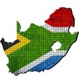 South Africa map with flag inside vector image vector image