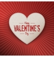 Valentines Day realistic white paper gift Card vector image