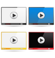 Video Player Templates vector image vector image