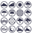 Weather icons isolated on white background set vector image vector image