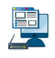 webside router internet and computer concept vector image vector image