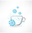 winter cup grunge icon vector image vector image