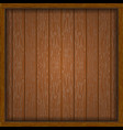 wooden frame with boards vector image