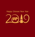 zodiac pigs chinese new year the year of the pig vector image
