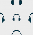 headsets icon sign Seamless pattern with geometric vector image