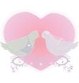 with a pair of pigeons vector image