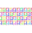 abstarct colorful seamless pattern vector image