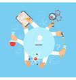 concept of science and education vector image