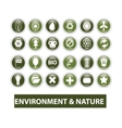nature ecology glossy buttons set vector image