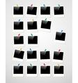 Polaroid photo frame background vector image