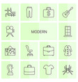 14 modern icons vector image vector image