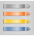 Abstract leather ribbon with button banners set vector | Price: 1 Credit (USD $1)