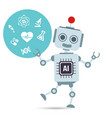 ai artificial intelligence technology robot with vector image vector image
