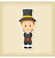 American Pilgrim children icon Thanksgiving day vector image vector image