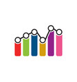 analytics graph vector image