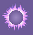 banner with realistic ultra violet flames vector image vector image
