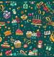 birthaday seamless pattern vector image vector image