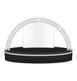 black color flat style dais round stage metal vector image vector image