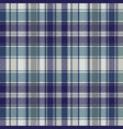 blue striped tartan plaid seamless pattern vector image vector image