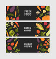 bundle of horizontal web banner templates with vector image vector image